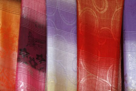 silk wool: a simple  background with many colors and shapes Stock Photo