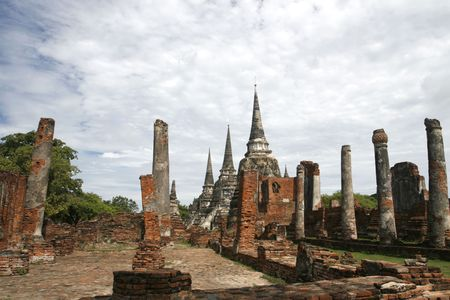 orison: one of the old capitasl cities inThailand Stock Photo