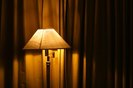 an open  standing lamp in a bedroom Stock Photo - 3711967