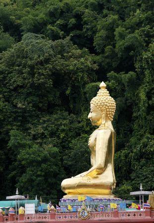 orison: a big Buddha at north Thailand near Laos and Burma Stock Photo