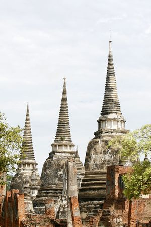 si: one of the biggest cities in southest Asia, Ayutthaya  Stock Photo