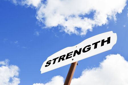 Strength sign Stock fotó