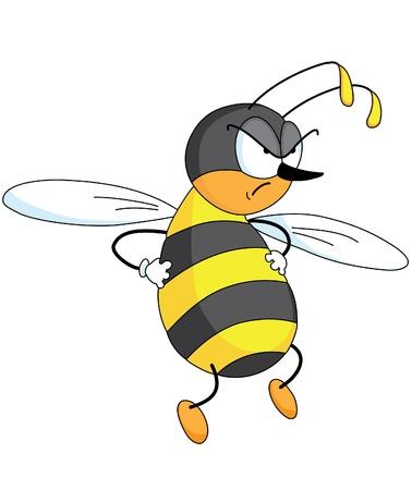 w�tend: Eine Abbildung eines b�se Biene