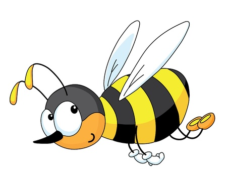 fly cartoon: An illustration of a cheerful bee Illustration