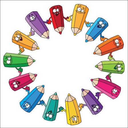 illustration of a circle pencils Stock Vector - 10398836