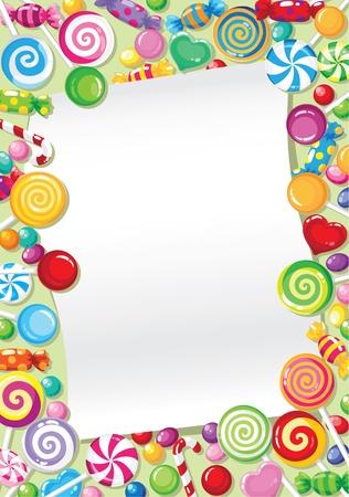 snoepjes: illustratie van een kaart van snoep