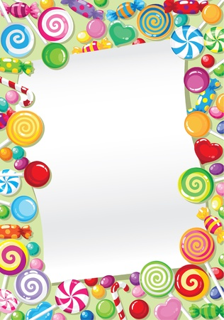 piruleta: Ilustración de una tarjeta de candy