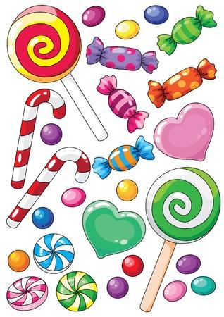 お菓子のイラスト  イラスト・ベクター素材