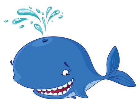 whale underwater: An illustration of a whale