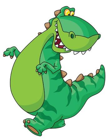 An illustration of walking dinosaur Stock Vector - 10662909