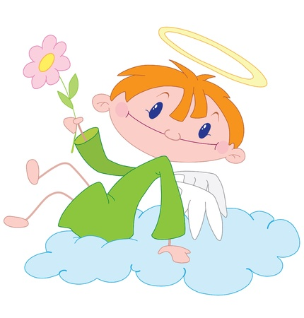 illustration of a angel boy  Stock Vector - 10662904