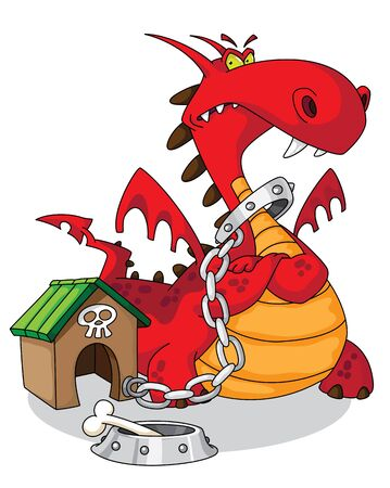 illustration of a dangerous dragon Иллюстрация