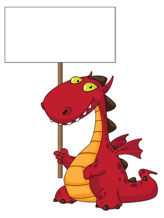 illustration of a dragon and blank Stock Vector - 10914656