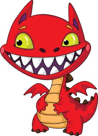 illustration of a little dragon Stock Vector - 10914670