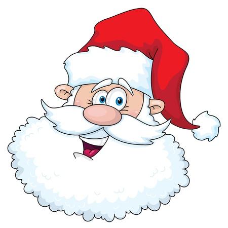 illustration of a funny santa head Stock Vector - 10960401