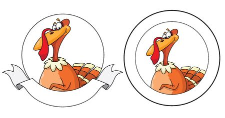 illustration of a turkey banner Vector