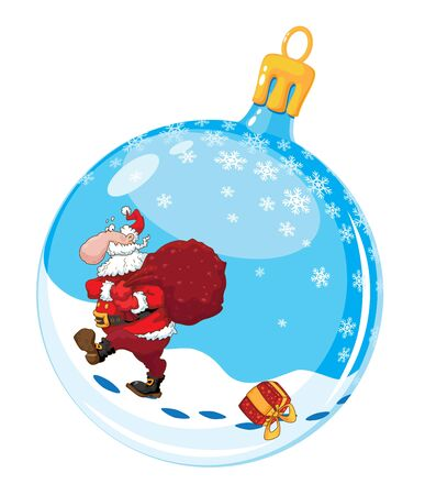 illustration of a christmas ball with Santa Stock Vector - 11246121
