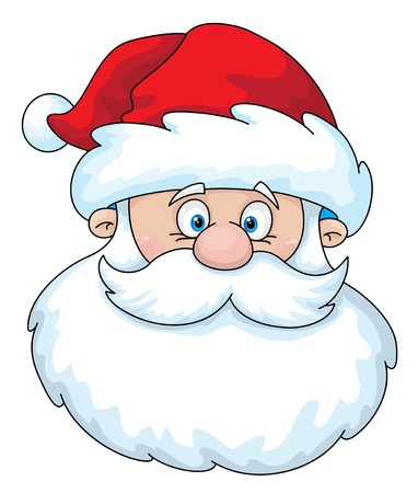 Illustration of a Santa head Illustration