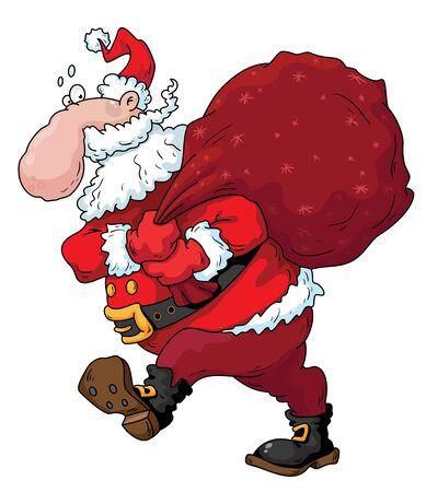 Illustration of funny christmas Santa Stock Vector - 11246130