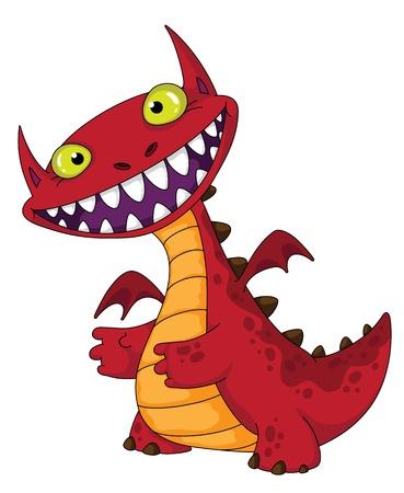 Abbildung eines lachenden Drachen