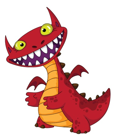 dragones: ilustraci�n de un drag�n de risa