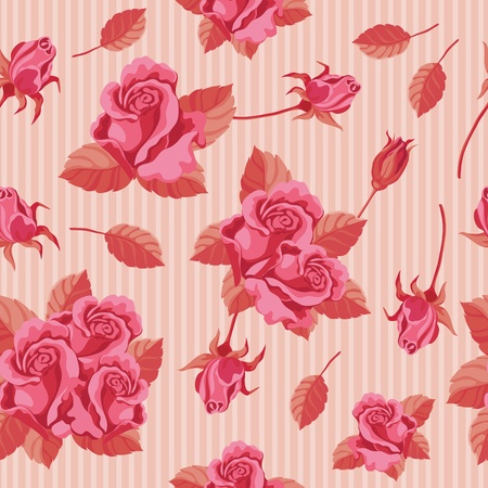 red rose bouquet: illustration of a seamless roses red