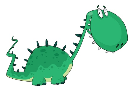 dinosaur animal: illustration of a cartoon dino Illustration