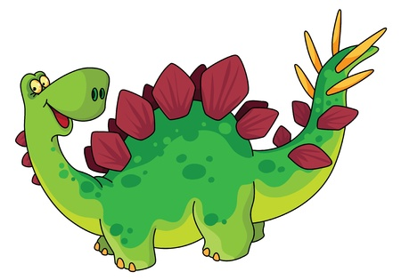 An illustration of a cute dinosaur Vector
