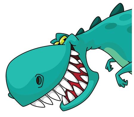 dinosaurio caricatura: ilustración de una cabeza de dinosaurio Vectores