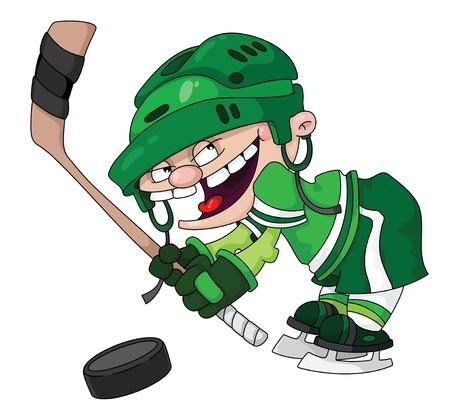 hockey players: illustration of a boy hockey