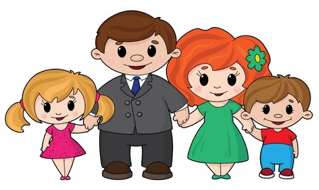 illustration of a cheerful family Vector