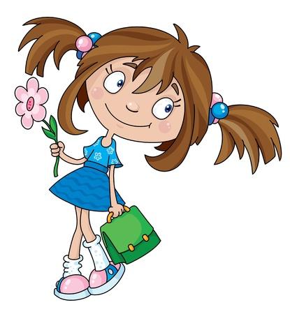 Illustrazione di una ragazza sorridente