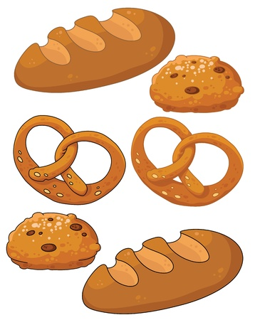 pretzel: illustration of a bread products