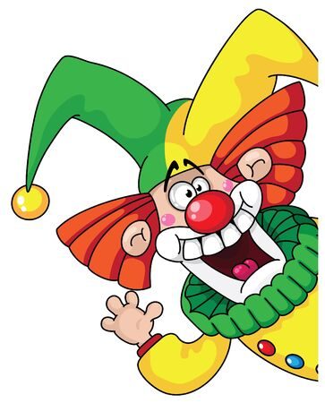 jester: illustration of a clown head