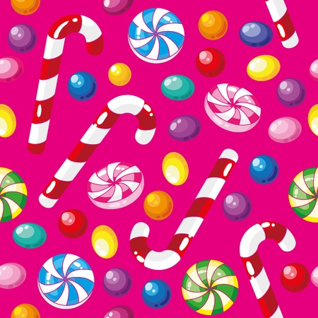 illustration of a seamless pattern funny candies Vector