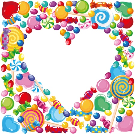 illustration of a candy heart  Vector