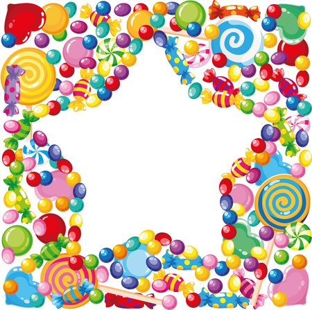 illustration of a candy star  Vector