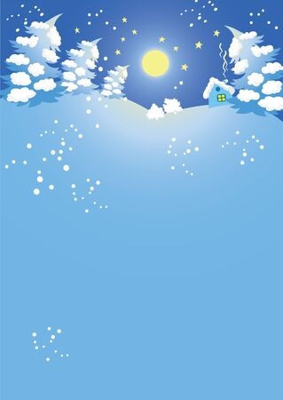 illustration of a Christmas background night Vector