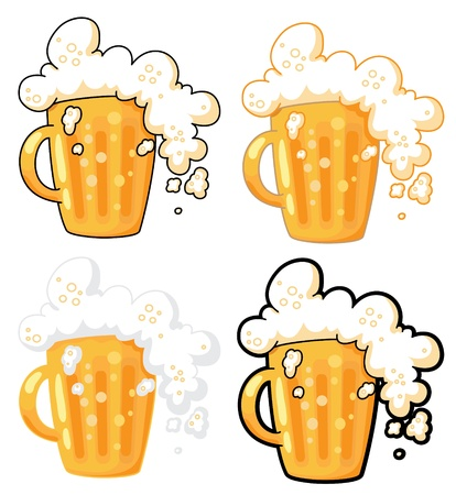 foam party: illustration collection of lager beer Illustration