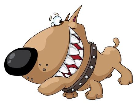 dientes caricatura: ilustración de una sonrisa de perro Vectores