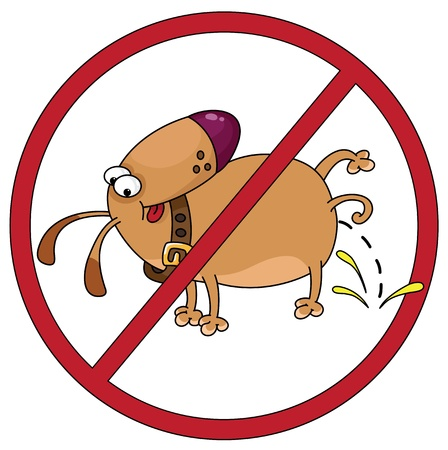 excrement: illustration of the prohibitory sign about the dogs