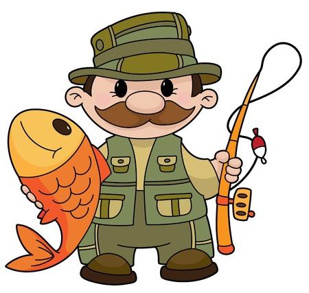pescador: Una ilustraci�n de un pescador