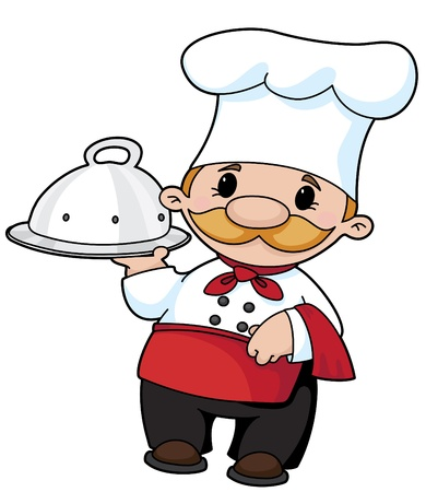 cookery: Illustration of the smiling cook
