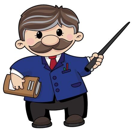 profesor: Una ilustración de un profesor