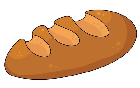 pan frances: ilustraci�n de un pan amarillo Vectores