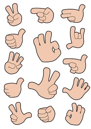Ilustración de una colección de gestos