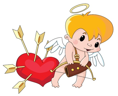 illustration of a cute Cupid Vector