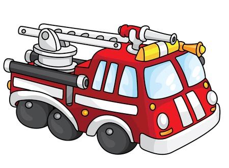 camion de bomberos: Una ilustración de un camión de bomberos