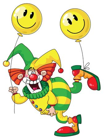 jester: illustration of a funny clown