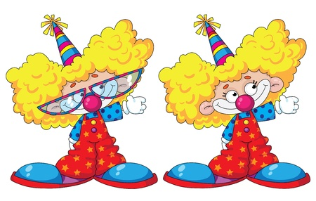 illustration of a funny kids clowns Vector